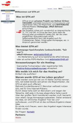 Vorschau der mobilen Webseite www.qth.at, QTH.at