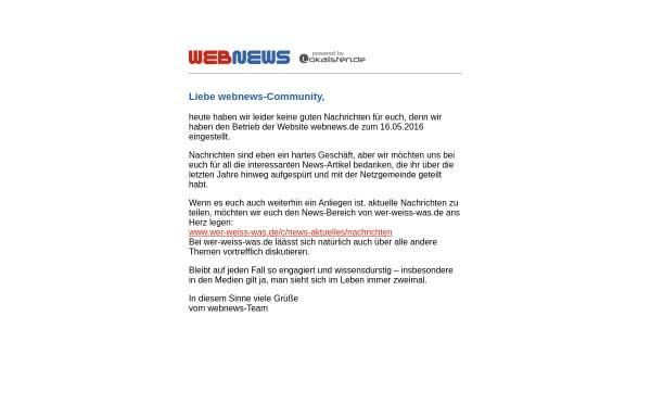 Vorschau von www.webnews.de, WebNews
