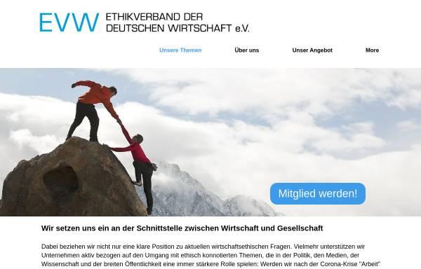 Vorschau von www.ethikverband.de, Ethikverband der Deutschen Wirtschaft e.V.