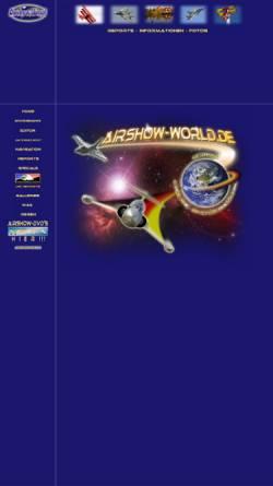 Vorschau der mobilen Webseite www.airshow-world.de, Airshow-World
