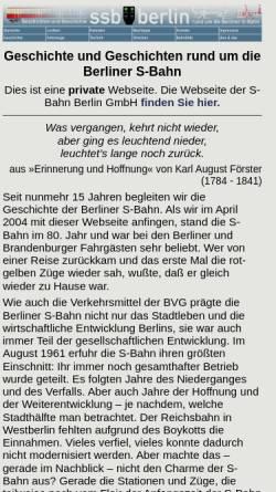 Vorschau der mobilen Webseite www.stadtschnellbahn-berlin.de, Geschichte und Geschichten rund um die Berliner S-Bahn