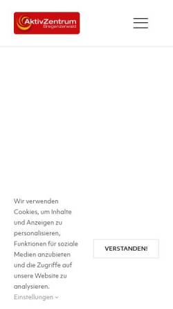 Vorschau der mobilen Webseite www.aktiv-zentrum.at, Aktive Zentrum Bregenzerwald