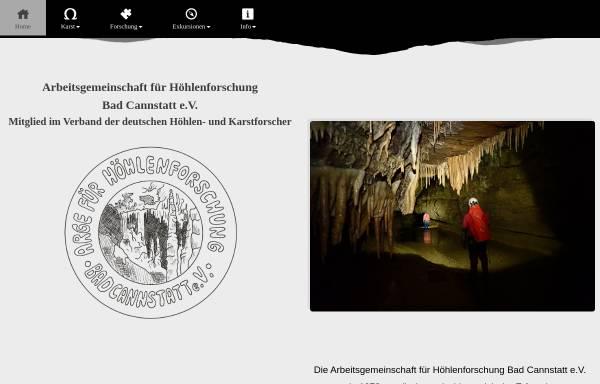 Vorschau von www.lehmpfuhl.org, Arbeitsgemeinschaft für Höhlenforschung Bad Cannstatt e.V.