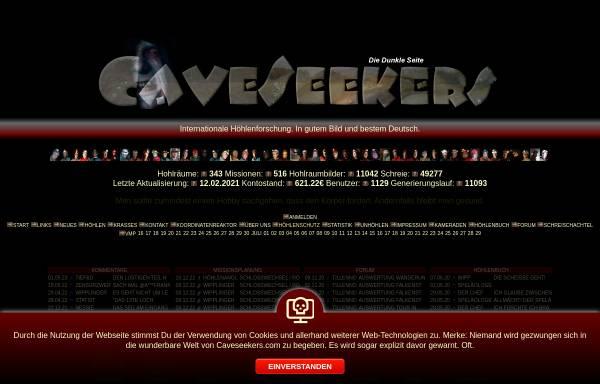 Vorschau von www.caveseekers.com, CaveSeekers