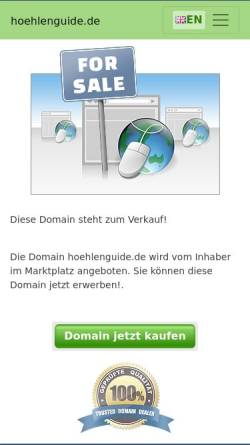 Vorschau der mobilen Webseite www.hoehlenguide.de, Höhlen Guide Frank Roßkamp