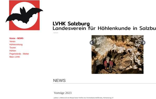Vorschau von www.hoehlenverein-salzburg.at, Landesverein für Höhlenkunde in Salzburg