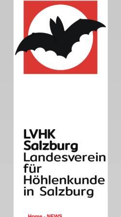 Vorschau der mobilen Webseite www.hoehlenverein-salzburg.at, Landesverein für Höhlenkunde in Salzburg