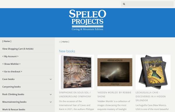 Vorschau von www.speleoprojects.com, Speleo Projects