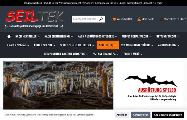 Vorschau von www.speleotek.de, Speleotek [Obendorf, Fritzi & Jörg]