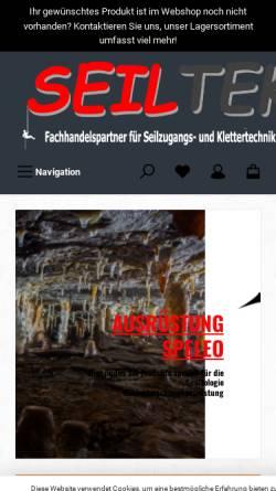 Vorschau der mobilen Webseite www.speleotek.de, Speleotek [Obendorf, Fritzi & Jörg]
