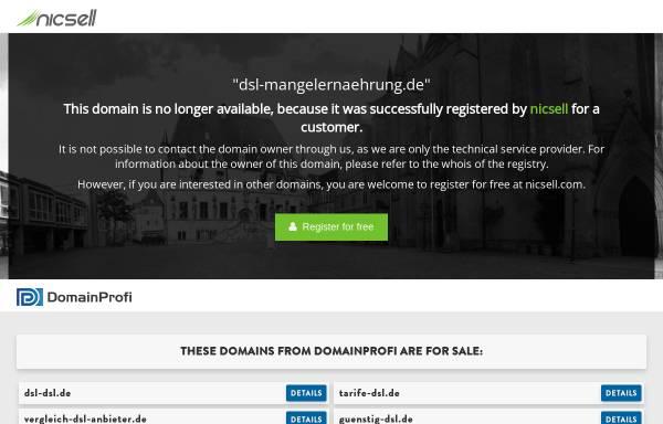 Vorschau von www.dsl-mangelernaehrung.de, DSL German Seniors