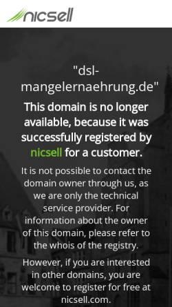 Vorschau der mobilen Webseite www.dsl-mangelernaehrung.de, DSL German Seniors