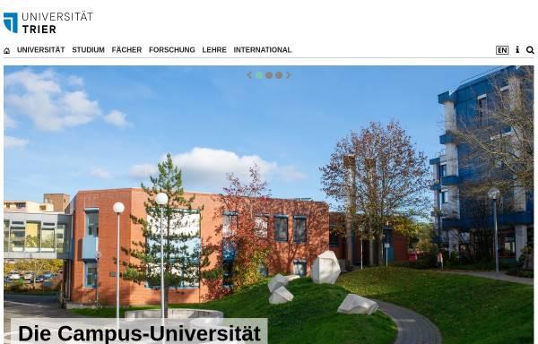 Vorschau von www.uni-trier.de, Fachbereich Geowissenschaften der Universität Trier