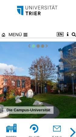 Vorschau der mobilen Webseite www.uni-trier.de, Fachbereich Geowissenschaften der Universität Trier