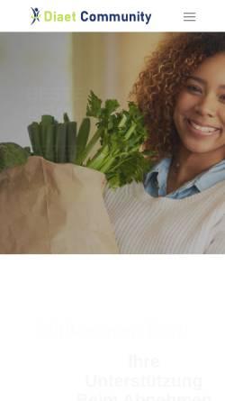 Vorschau der mobilen Webseite www.diaet-community.de, Diät Community