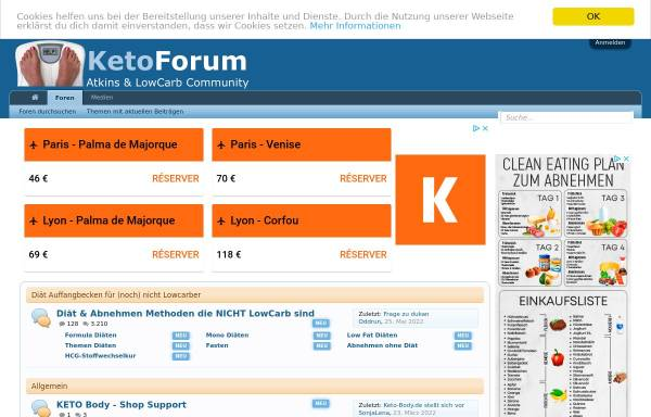 Vorschau von www.ketoforum.de, Ketoforum