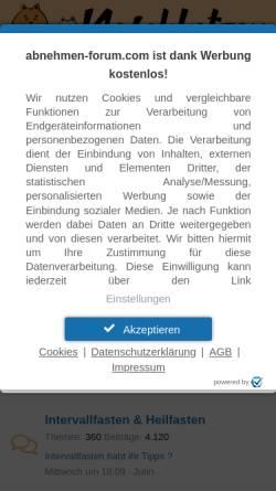 Vorschau der mobilen Webseite diaet.abnehmen-forum.com, Naschkatzen