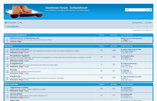 Vorschau von www.schlankforum.com, Schlankforum.com