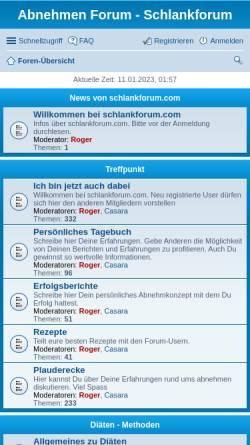 Vorschau der mobilen Webseite www.schlankforum.com, Schlankforum.com