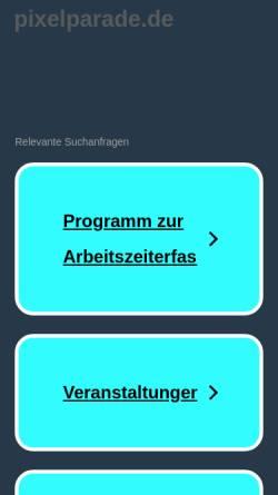 Vorschau der mobilen Webseite www.pixelparade.de, Rochell, Ulrike