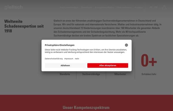 Vorschau von www.gielisch.de, C. Gielisch GmbH