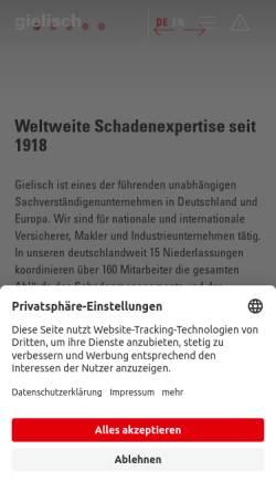 Vorschau der mobilen Webseite www.gielisch.de, C. Gielisch GmbH