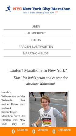 Vorschau der mobilen Webseite nyc.elchristo.de, Lehner, Christoph
