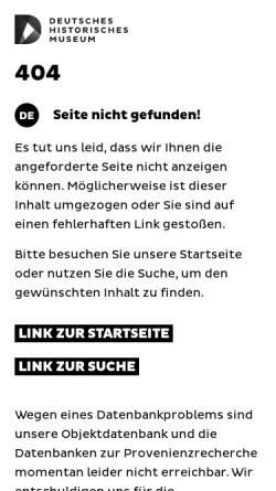Vorschau der mobilen Webseite www.dhm.de, E-Mail-Liste de.sci.museum