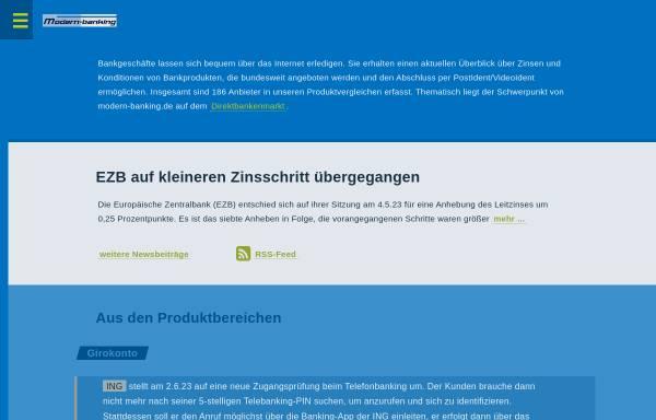 Vorschau von www.modern-banking.de, Modern-banking - Frank Rassier
