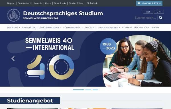 vorschau von medizinstudiumsemmelweishu semmelweis universitt deutschsprachige studiengnge - Medizinstudium Bewerbung