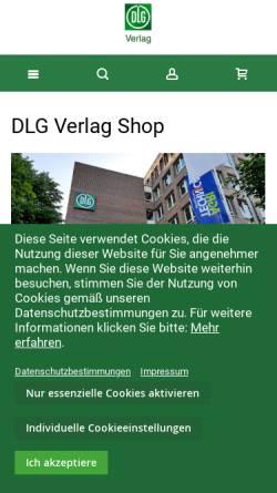 Vorschau der mobilen Webseite www.dlg-verlag.de, DLG-Verlag GmbH