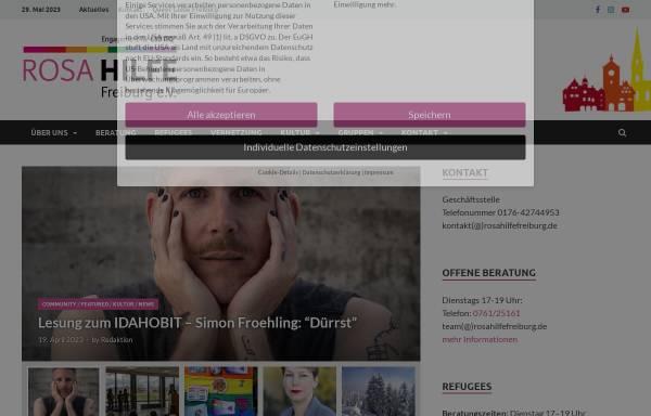 Vorschau von www.rosahilfefreiburg.de, Rosa Hilfe Freiburg