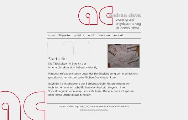 Vorschau von www.andreacleve.de, Andrea Cleve