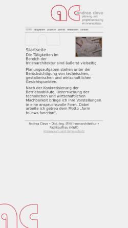 Vorschau der mobilen Webseite www.andreacleve.de, Andrea Cleve