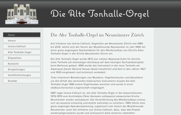 Vorschau von www.alte-tonhalle-orgel.ch, Alte Tonhalle-Orgel im Neumünster Zürich