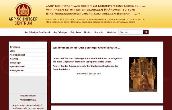 Vorschau von www.arp-schnitger-gesellschaft.de, Arp Schnitger Gesellschaft