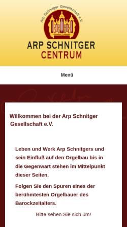Vorschau der mobilen Webseite www.arp-schnitger-gesellschaft.de, Arp Schnitger Gesellschaft