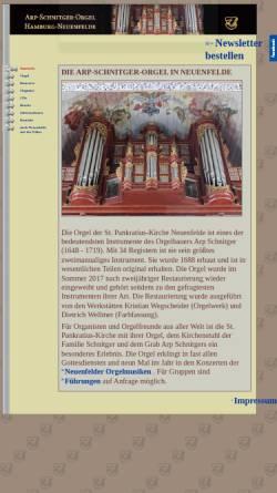 Vorschau der mobilen Webseite www.schnitgerorgel.de, Arp-Schnitger-Orgel, Hamburg-Neuenfelde