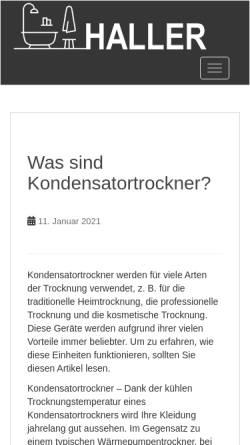 Vorschau der mobilen Webseite www.bert-haller.de, Bert Haller GmbH