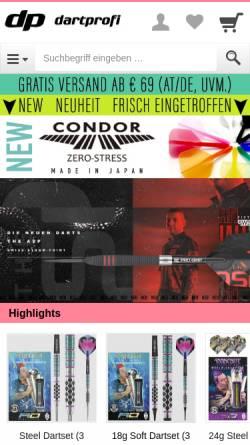 Vorschau der mobilen Webseite www.dartprofi.de, Dartprofi.de