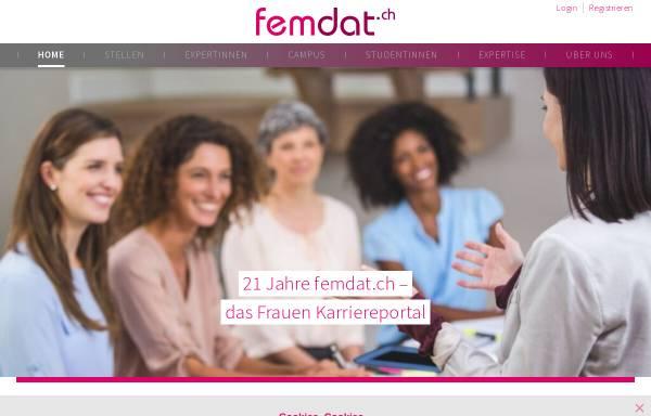 Vorschau von www.femdat.ch, Femdat