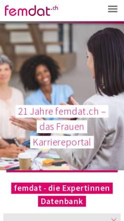 Vorschau der mobilen Webseite www.femdat.ch, Femdat