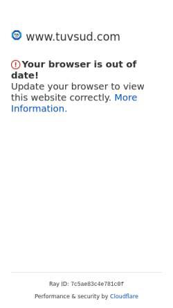 Vorschau der mobilen Webseite www.tuev-sued.de, TÜV Süd AG