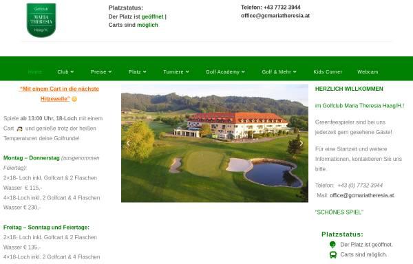 Vorschau von gcmariatheresia.at, Golfclub Maria Theresia