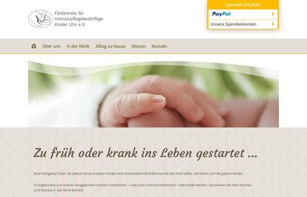 Vorschau von intensivkinder-ulm.de, Förderkreis für intensivpflegebedürftige Kinder Ulm e.V.