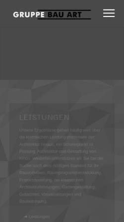 Vorschau der mobilen Webseite www.gruppebauart.de, Gruppe Bau Art
