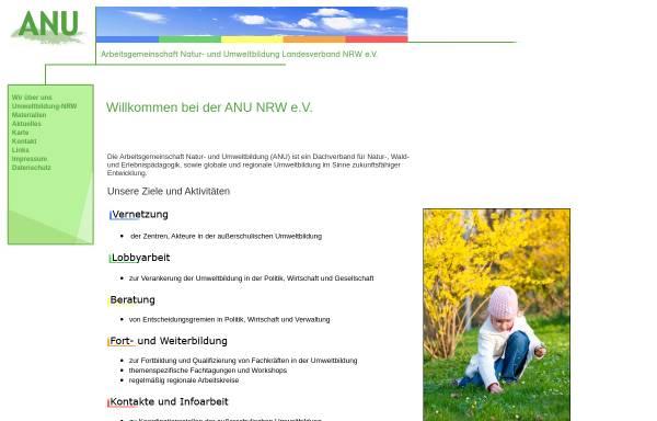 Vorschau von www.anu-nrw.de, Arbeitsgemeinschaft Natur- und Umweltbildung (ANU), Landesverband NRW e.V.