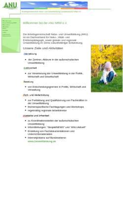 Vorschau der mobilen Webseite www.anu-nrw.de, Arbeitsgemeinschaft Natur- und Umweltbildung (ANU), Landesverband NRW e.V.