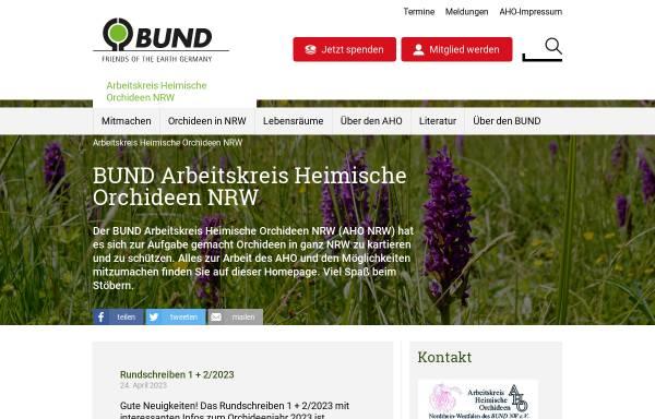 Vorschau von www.aho-nrw.de, Arbeitskreis Heimische Orchideen Nordrhein-Westfalen des BUND NW e. V.