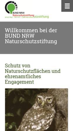 Vorschau der mobilen Webseite bund-nrw-naturschutzstiftung.de, BUND NRW Naturschutzstiftung